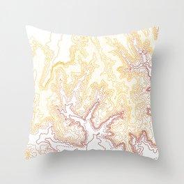 Contour Map of Bryce Canyon, Utah Throw Pillow