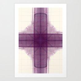 Tubular Cross Art Print