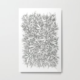 Black Growth Metal Print