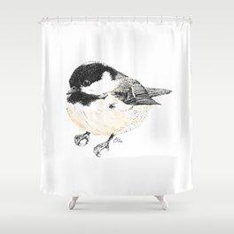 Coal Tit Shower Curtain