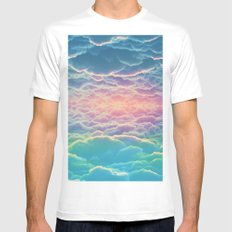 INSIDE THE CLOUDS White MEDIUM Mens Fitted Tee