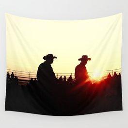 sundown rodeo Wall Tapestry