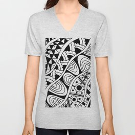 Zentangle Unisex V-Neck