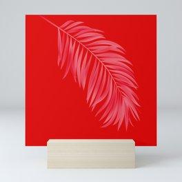 Amaranth Red Tropical Palm Mini Art Print