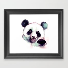 Panda Eating Framed Art Print