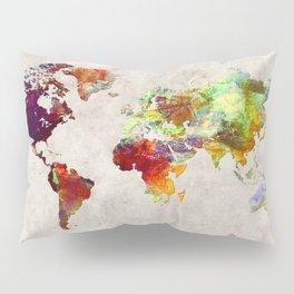 World Map 62 Pillow Sham