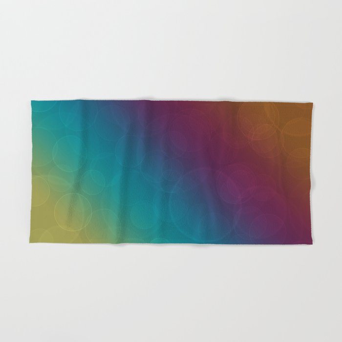 Bohek Bubbles on Rainbow of Color - Ombre multi Colored Spheres Hand & Bath Towel
