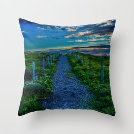 Walk towards the end Throw Pillow