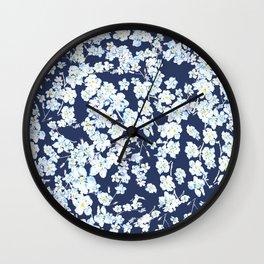 flower pattern 1 Wall Clock