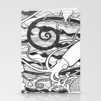 squid Stationery Cards featuring Squid by LizPalo