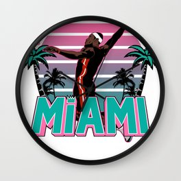 """The Victrs """"Welcome To Miami"""" South Beach Wall Clock"""