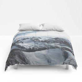 Snowy Mountains of Alberta Comforters