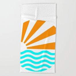 SUN OVER SEA Beach Towel