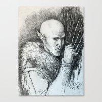 "dragon age inquisition Canvas Prints featuring Dragon Age Inquisition - Solas - Regrets by Barbara ""Yuhime"" Wyrowińska"