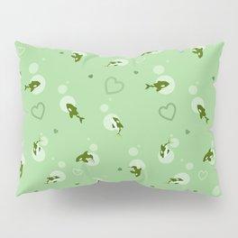 Green Orca Pillow Sham