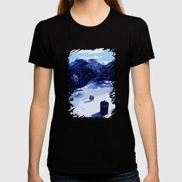 Tardis Art At The Snow Mountain T-shirt