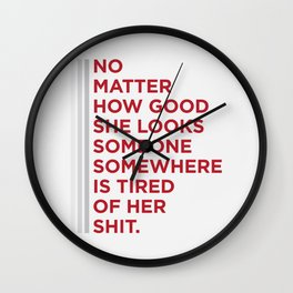 Someone, somewhere Wall Clock