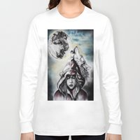 red riding hood Long Sleeve T-shirts featuring Little Red Riding Hood  by Bella Harris