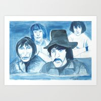 floyd Art Prints featuring Pink Floyd by Betty Razalli