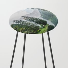 Forest Reflection in Italy Counter Stool