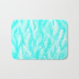 Light Blue Ocean Waves Bath Mat