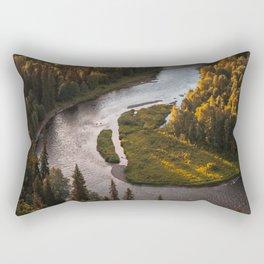 Nordic Forest River Rectangular Pillow