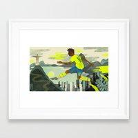 neymar Framed Art Prints featuring Neymar by Noah MacMillan