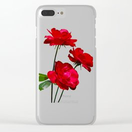 Roses are red, really red! Clear iPhone Case