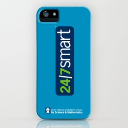 24/7 SMART in turquoise iPhone Case