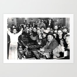 The Night Prohibition Ended Art Print