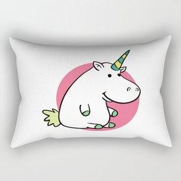 Fat unicorn Rectangular Pillow