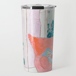 A Room with a View - Pink Armchair by the Window Travel Mug