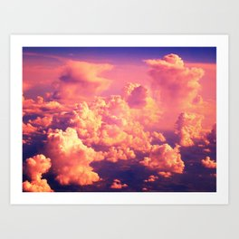 The Clouds at Sunset Art Print