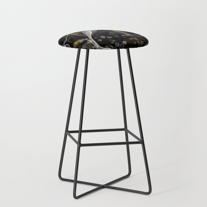 Monochrome and gold ink Bar Stool