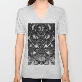 Black and White Abstract Art - Spy Master  Unisex V-Neck