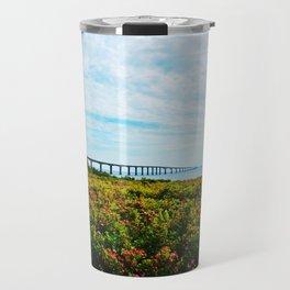 Wild Roses and the Big Bridge Travel Mug
