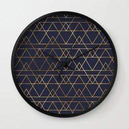 Modern Gold Navy Blue Wall Clock