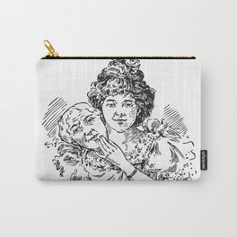 TWO FACED WOMAN Abstract Art Carry-All Pouch