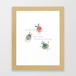 One apple a day Framed Art Print