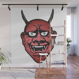 Red Hannya Wall Mural