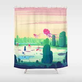 PHAZED PixelArt 5 Shower Curtain