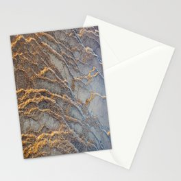 Travertine - blue gray Stationery Cards