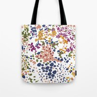 leah flores Tote Bags featuring FLORES by gcmozamo