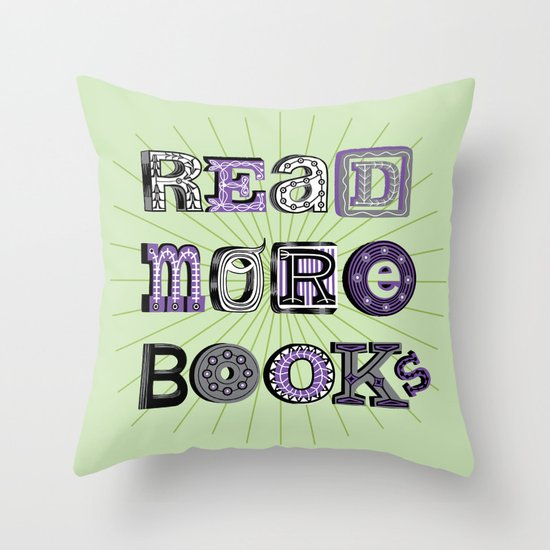 Read More Books Throw Pillow