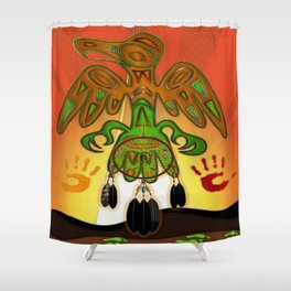 Imprint Native American Shower Curtain