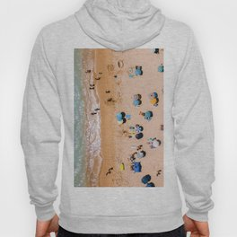 People On Algarve Beach In Portugal, Drone Photography, Aerial Photo, Ocean Wall Art Print Hoody