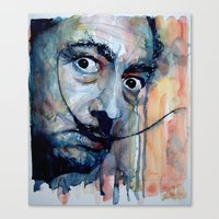 dali Canvas Prints featuring Dali by Paul Lovering Watercolors