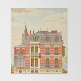 Brick constructions; ordinary brick from a decorative point of view - J. Lacroux and C. Détain - 187 Throw Blanket