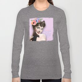 Movie star art - Audrey Hepburn Long Sleeve T-shirt