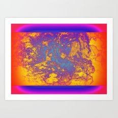 Flat Planet Art Print